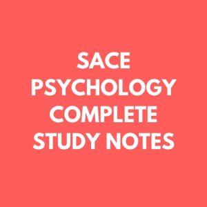 SACE Psychology Study Notes: Introduction to Psychology (ATAR 96) -