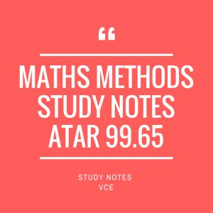 VCE Maths Methods Study Notes