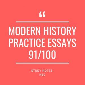 MODERN HISTORY PRACTICE ESSAYS 91/100